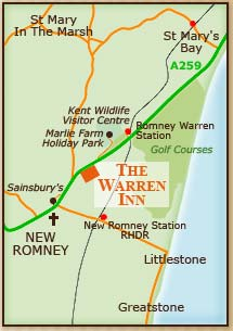 Map of New Romney and local area